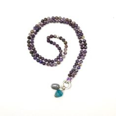 Charoite Mala Beads 108 Purple Yoga Necklace Knotted | Etsy Semi Precious Beads, Semi Precious Gemstones, Bohemian Jewelry, Boho, Mens Beaded Necklaces, Christmas Gifts For Wife, Yoga Jewelry, Bracelet Sizes, Meditation