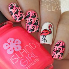 Copycat Claws: 40 Great Nail Art Ideas - Hot Pink