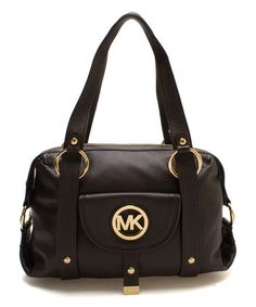 74863840b2ee Loving this Dark Chocolate Fulton Leather Satchel on  zulily!  zulilyfinds  Best Handbags