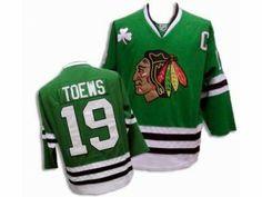 Jonathan Toews Chicago Blackhawks #19 green edge jersey