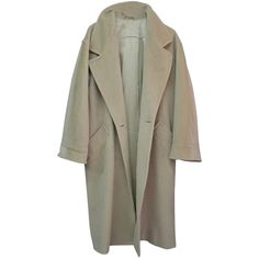 Pre-owned Max Mara Basic Trench Coat (€91) ❤ liked on Polyvore featuring outerwear, coats, coats & jackets, jackets, trench coat, brown coat, maxmara, maxmara coat and brown trench coat