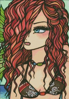 """Strawberry Surf"" by Hannah Lynn Colouring Pages, Coloring Books, Hannah Lynn, Mermaid Fairy, Dibujos Cute, Sketch A Day, Colouring Techniques, Colorful Drawings, Cool Cartoons"
