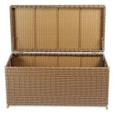 Wicker Patio Storage Deck Box Honey ** Details on product can be viewed by clicking the VISIT button Patio Storage, Outdoor Storage, Storage Benches, Patio Swing, Deck Box, Honey Colour, Patio Chairs, Decks, Outdoor Gardens
