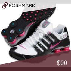 70cecfaa663 These Nike Shox running shoes feature Nike s Shox midsole for impact- absorption to enhance any athletic activity from running to basketball.