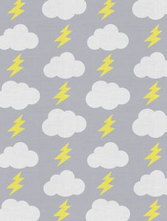 Rainbolts Fabric in lightning for Kids | Nursery | Children's Spaces