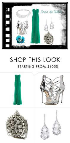 """verde"" by aguiar-pilutti on Polyvore featuring moda, Alexander McQueen, Giuseppe Zanotti, Plukka y Messika"
