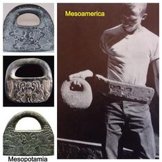 "The mysterious stone ""bags"" or ""baskets"" associated with the Sumerian gods, are also found in Mesoamerica."
