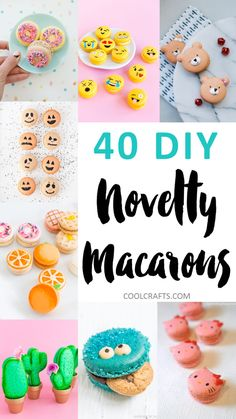 Want to get a little bit creative with your macarons? Here are 40 macaron recipes and designs that will definitely inspire your creativity.