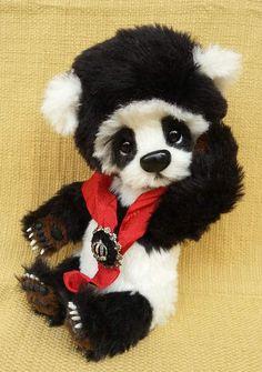 DANTE a cute big Panda bear by By The Tuscany Bear Maker | Bear Pile