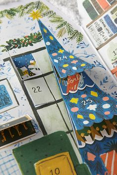 Adorable Advent Calendars - Countdown to Christmas - The Inspired Room Paper Illustration, Christmas Illustration, Illustrations, Christmas Countdown, Christmas Time, Xmas, Christmas Ornaments, Paper Art, Paper Crafts