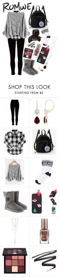 """Untitled #1254"" by casssiaaa ❤ liked on Polyvore featuring River Island, Vans, UGG, Ettika, Barry M and Huda Beauty"