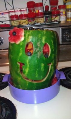 watermelon carving for a luau