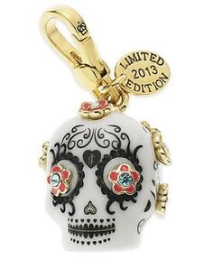 Juicy Couture Charm, Gold-Tone Day of the Dead Charm