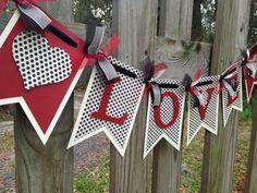 Love Banner - Wedding Photo Prop - Engagement Photo Prop - Handmade Banner