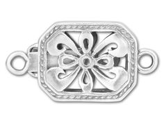 Sterling Rectangular Pearl Clasp