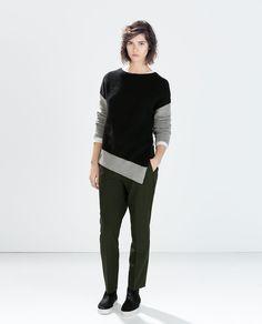 Image 1 of ASYMMETRICAL SWEATER from Zara