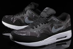"Nike Air Max 1 PRM Tape ""Camo"" - Black / Cool Grey / White 