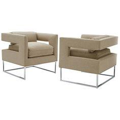 Milo Baughman, Cut Out Lounge Chairs