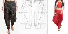 Excellent Photo sewing pants for man Style Dress Sewing Patterns, Clothing Patterns, Fashion Sewing, Boho Fashion, Business Casual Dress Shirts, Harem Pants Pattern, Mode Abaya, Sewing Pants, Hot Pants