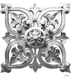 "Plaster Rosette--Moorish--10 1/2"" X 10 1/2""--1 3/8""  Relief - $88 Decorators Supply Corporation"