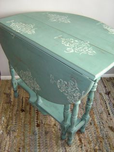 Antique Gate Leg Drop Leaf Table Shabby by VintageIdeology, $245.00