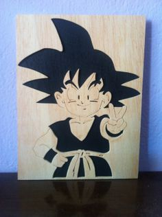 Checkout this amazing product Goku Dragon ball z wooden picture at Shopintoit