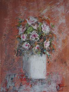 Tableau toile bouquet de fleurs n°15 : Peintures par rosevart
