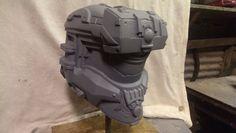 Halo 4 Replica Enforcer Helmet Raw Castings by WilsonWorkshopProps
