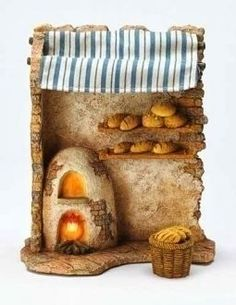 Fontanini 75 Religious Christmas Nativity Lighted Bakery Shop Set 50845 >>> You can get additional details at the image link. Miniature Crafts, Miniature Houses, Fontanini Nativity, Arts And Crafts For Teens, Christmas Nativity Scene, Modelos 3d, Nativity Crafts, Decorative Tile, Miniture Things