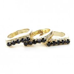 Sole Society - Stackable Stone Ring Set