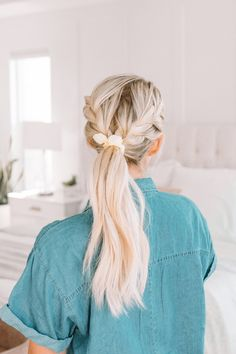 Learn How To French Braid Challenge Begins! Twist Me Pretty Learn How To French Braid Challenge Begi Short Hair Styles Easy, Braids For Short Hair, Short Hair Cuts, Curly Hair Styles, Natural Hair Styles, Box Braids Hairstyles, My Hairstyle, Straight Hairstyles, Short Hairstyles