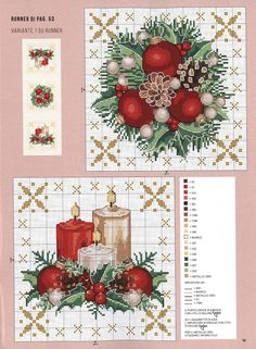 Cross Stitch Christmas Ornaments, Xmas Cross Stitch, Cross Stitch Art, Cross Stitch Flowers, Christmas Cross, Counted Cross Stitch Patterns, Cross Stitch Designs, Cross Stitching, Cross Stitch Embroidery