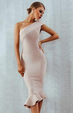 ead7b01429 One Shoulder Bodycon Dress Midi Bandage Dress  99.00 Bodycon Dress Formal