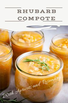 These must-make homemade rhubarb compote recipes are easy, incredibly delicious, and will complement any breakfast or spread table, yummy desserts like chia seed pudding or yogurt parfaits, or simply add them to sweeten your baking. #rhubarbrecipes #glutenfree #dairyfree #vegan #vegetarian #Paleo #dessert Jelly Recipes, Real Food Recipes, Great Recipes, Delicious Recipes, Healthy Living Recipes, Vegetarian Recipes, Vegan Vegetarian, Fun Desserts, Healthy Desserts