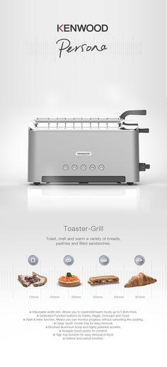 KENWOOD | Adjustable Slot Toaster by Nick Brook, via Behance