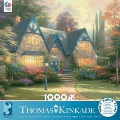 This Ceaco Puzzle features Thomas Kinkade's Windsor Manor. A stone manor surrounded by colorful landscape. x puzzle size when completed. Thomas Kinkade Puzzles, Kinkade Paintings, Puzzle Shop, Puzzle 1000, Puzzle Toys, Pretty Pictures, 1000 Piece Jigsaw Puzzles, Windsor, Landscape