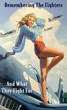Vintage Pin Up Girl Greg Hildebrandt Poster Pin Up Vintage, Vintage Metal, Pin Up Girls, Dibujos Pin Up, Serpieri, Military Pins, Pin Up Posters, Airplane Art, Airbrush Art