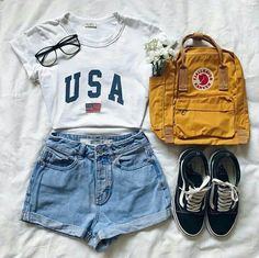 - Outfits for teens - cute summer outfits - Kids Style Teenage Outfits, Cute Outfits For School, Teen Fashion Outfits, Cute Fashion, Trendy Outfits, 90s Fashion, College Fashion, Fashion Clothes, Women's Clothes