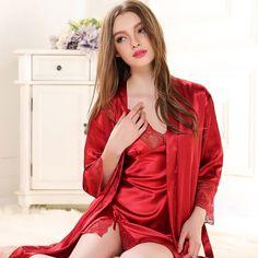 Aocome elegant sexy women lingerie retro lace black long slit dress