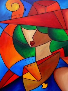oil pastel art | ... Passions - by Thomas C. Fedro from Contemporary Cubism Art Gallery