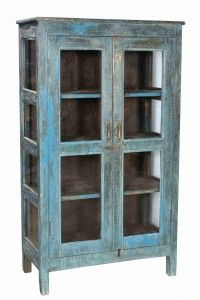 Distressed Light Blue Teak 2 Door Cabinet Primitive Furniture, Antique Furniture, Cabinet Dimensions, Indian Furniture, Cabinet Furniture, Teak, Light Blue, Dining Room, Doors