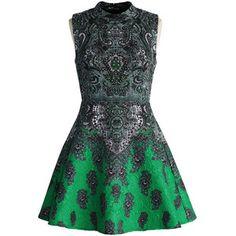 Chicwish Beads and Baroque Jacquard Dress