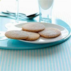 These easy-to-make biscuits are perfect as a delicious teatime treat or, for an impressive dinner party dessert, serve them alongside our wine jellies. Syllabub, Wine Jelly, Dinner Party Desserts, Shortbread Biscuits, Orange Recipes, Biscuit Recipe, Afternoon Tea, Cupcakes, Yummy Food