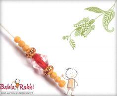 Delicate Crystal Bead Rakhi