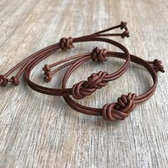 Couples Leather Bracelets His and her Bracelet Brown