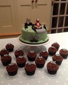 Go Kart birthday cake | Flickr - Photo Sharing! Boy Birthday Parties, Birthday Cupcakes, 10th Birthday, Karting, Motor Cake, Sport Cakes, Race Car Party, Easy Cake Decorating, Novelty Cakes