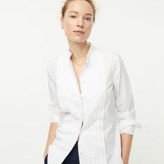 J.Crew: Slim-fit Thomas Mason® For J.Crew Tuxedo Shirt For Women J Crew Summer, Wear Test, Cashmere Sweaters, Tuxedo, Mens Suits, Chambray, Dress To Impress, Menswear, Slim