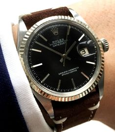 Serviced Rolex Datejust Automatic with black dial 1601
