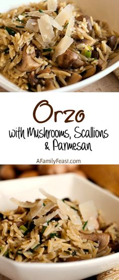 Orzo with Mushrooms,