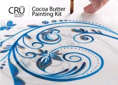 Cocoa Butter Painting Kit Rubber Products, Sweet Magic, Diy Crafts To Do, Cake Decorating Supplies, Painted Cakes, Asian Desserts, Candy Making, Cocoa Butter, Chocolate